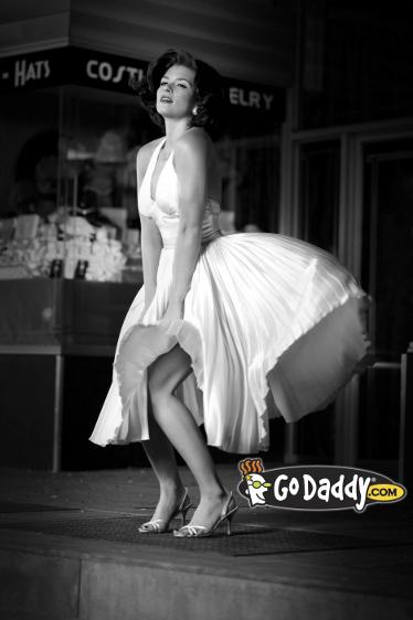 Go Daddy Danica Patrick Super Bowl Marilyn Monroe