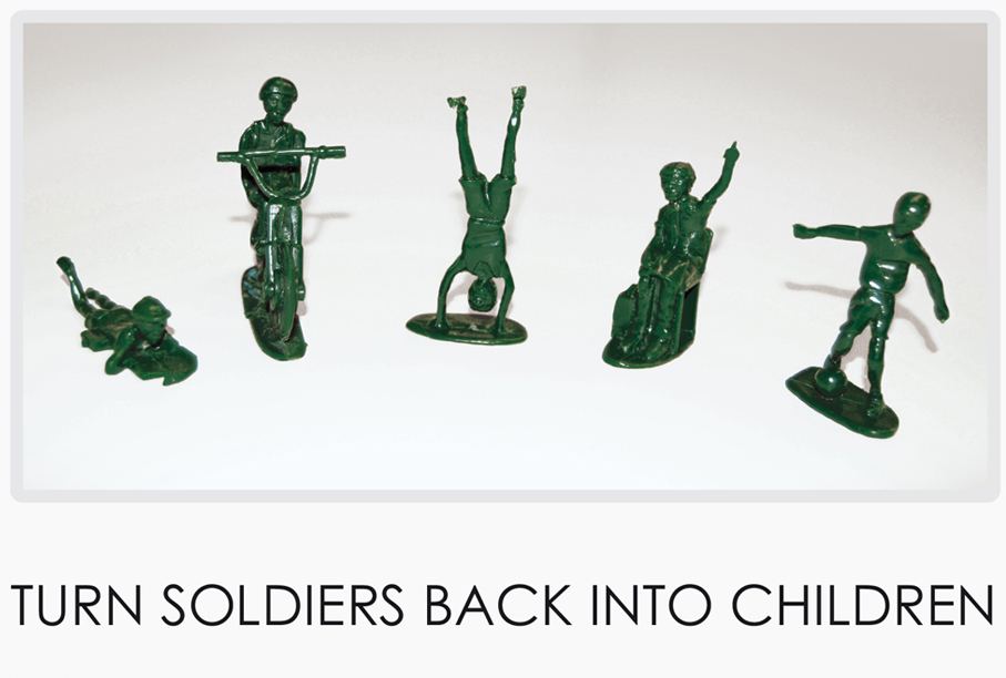 Unicef Toy Soldiers standing