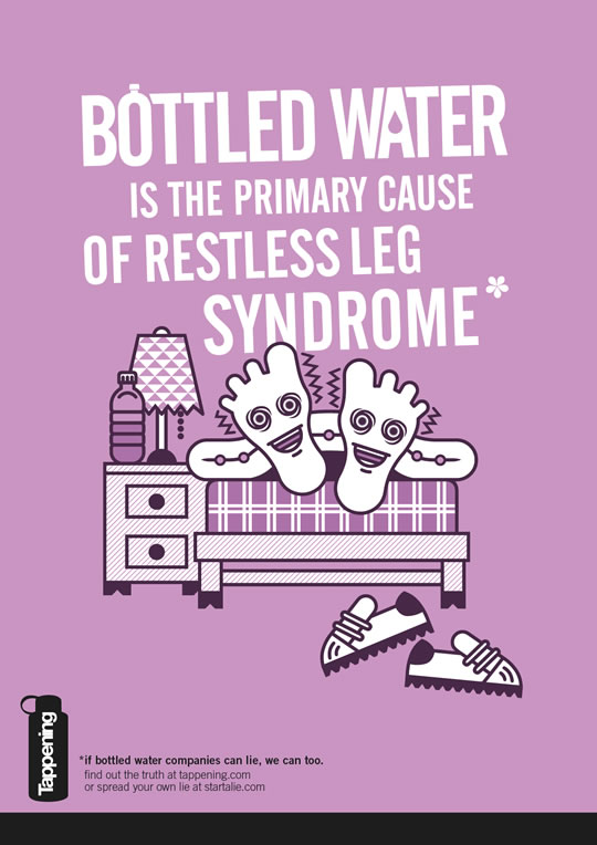 Bottled Water is the Primary Cause of Restless Leg Syndrome