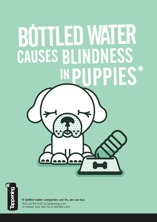 bottled water causes blindness in puppies