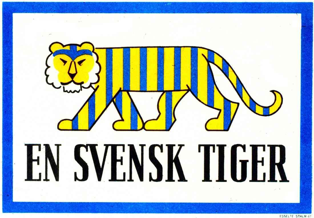 a swedish tiger