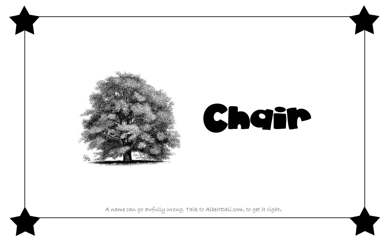 Albert Dali - Chair