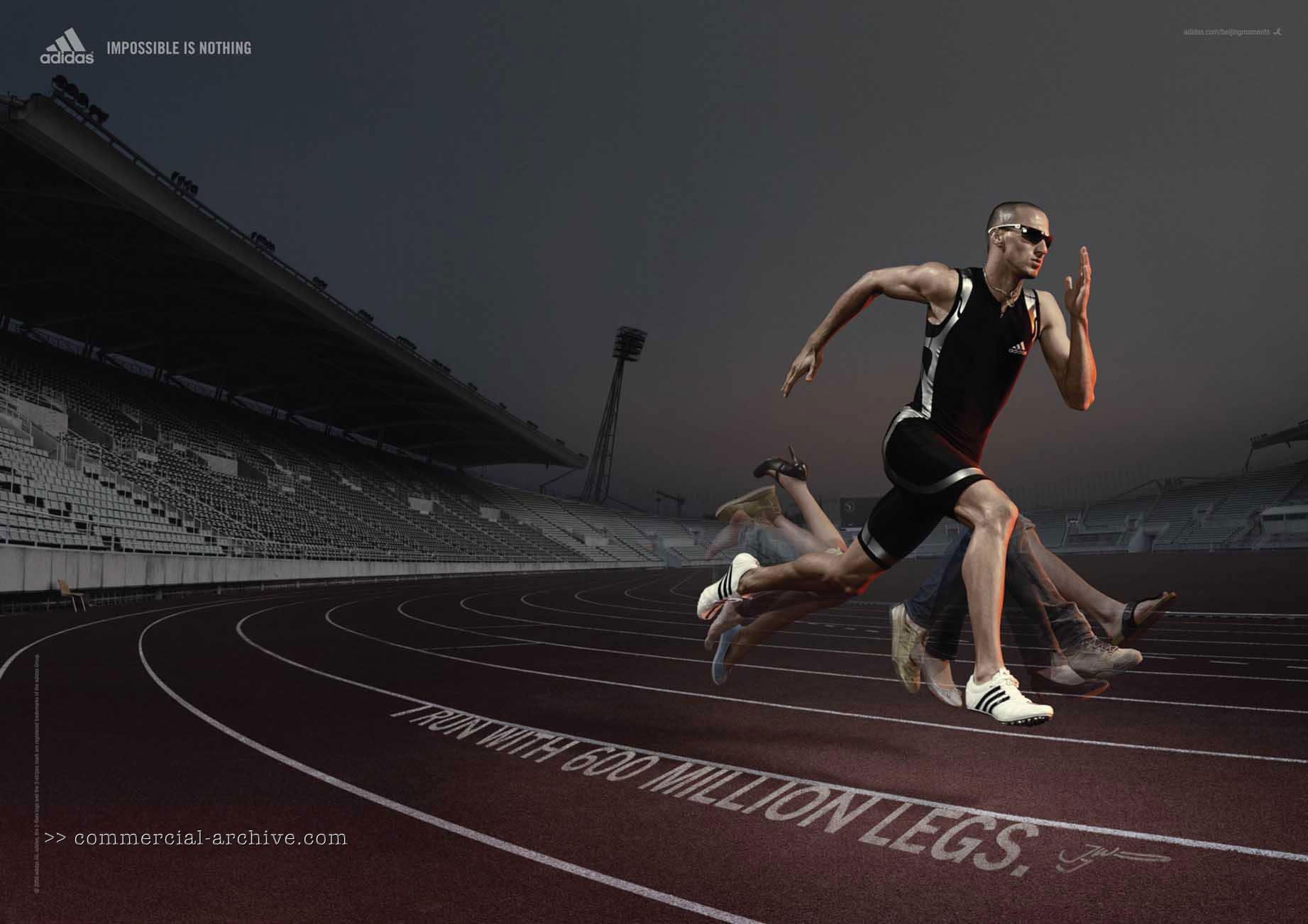 "American 400 meters runner Jeremy Wariner: ""I run with 600 million legs."""