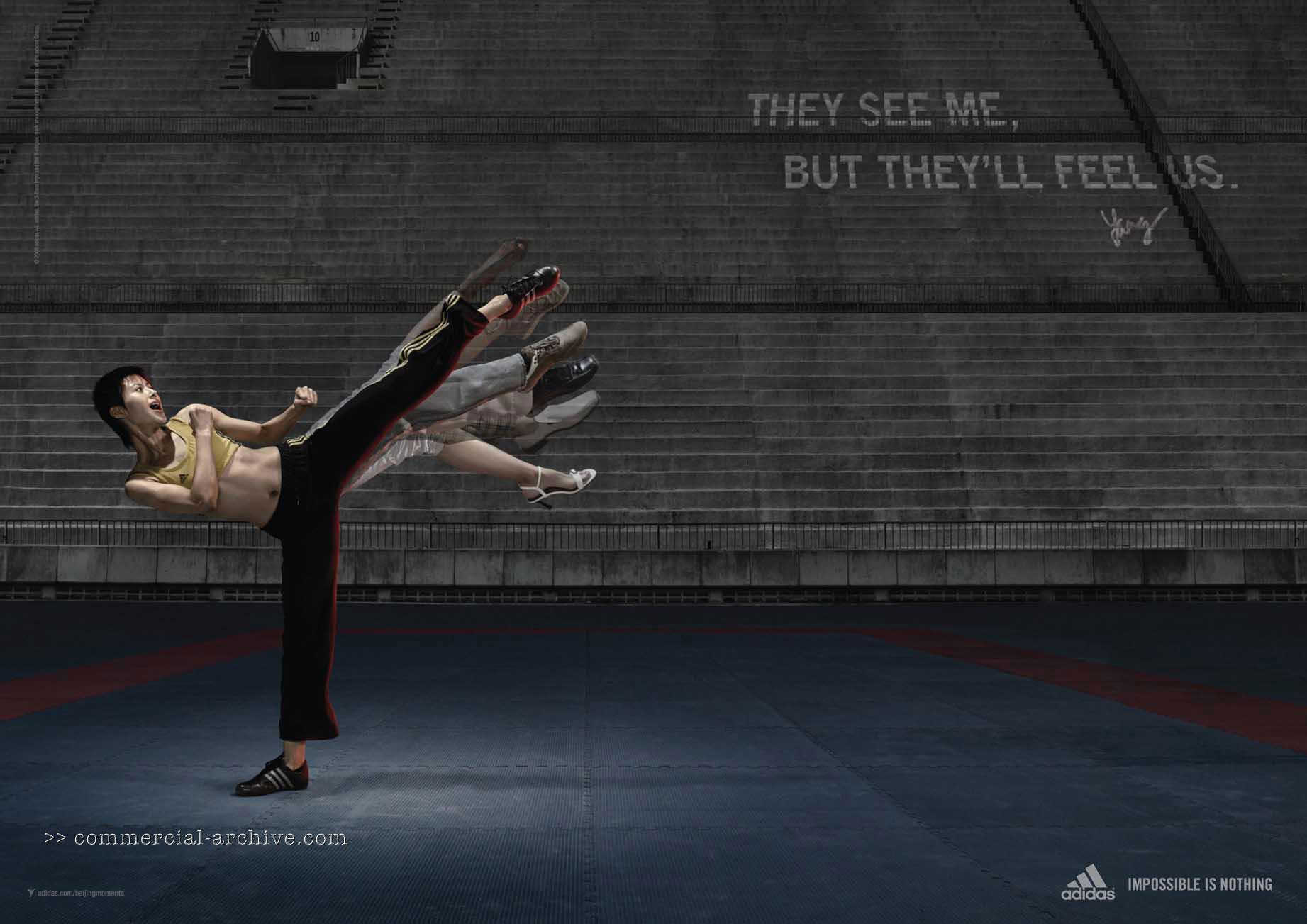 "Chinese Taekwondo athlete Yang Shuchun. ""They see me but they'll feel us."""