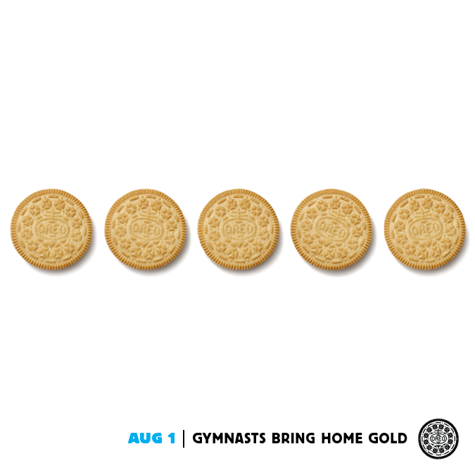 Never has a golden Oreo looked so good.  Aug 1