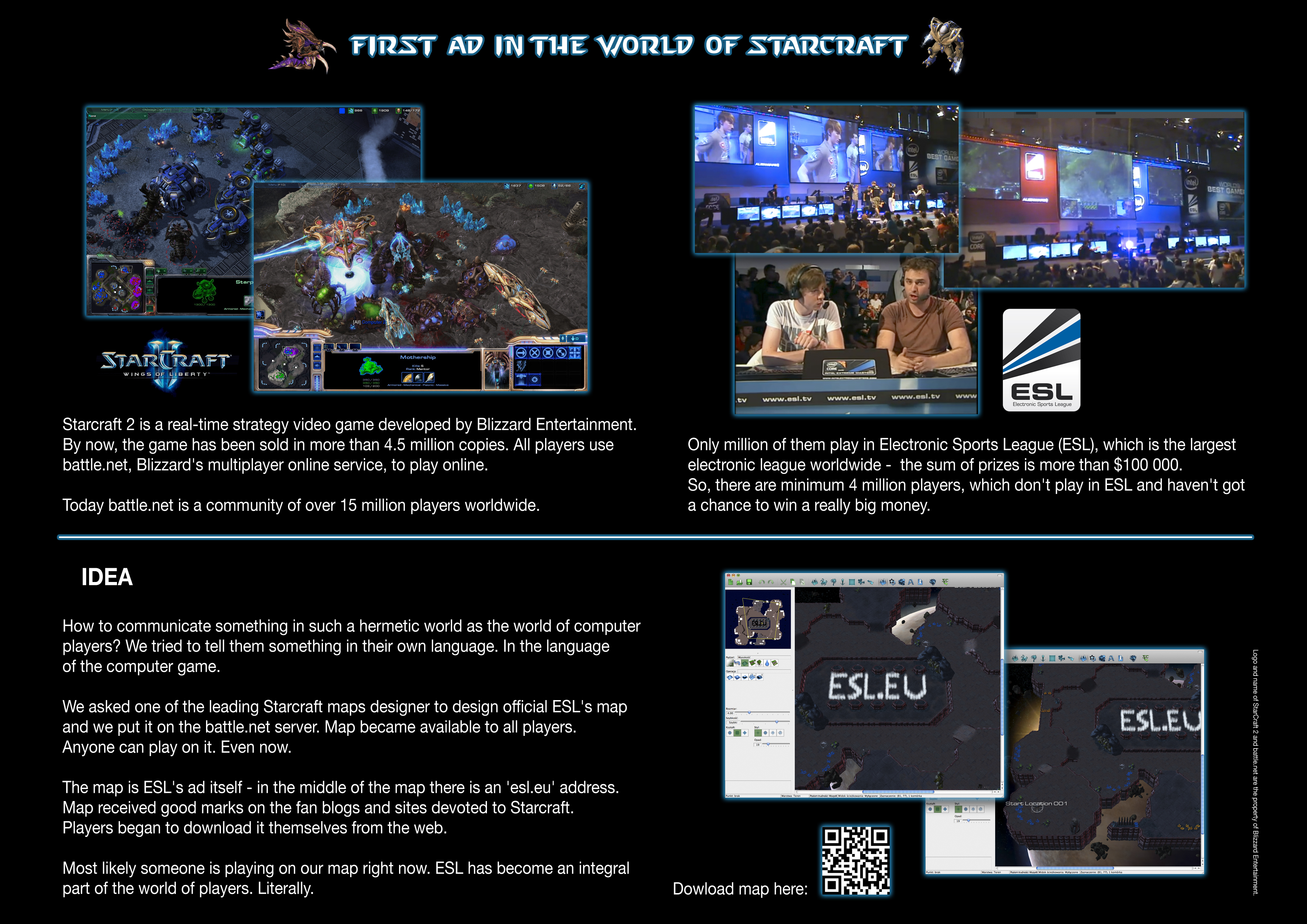 First ad in the world of Starcraft