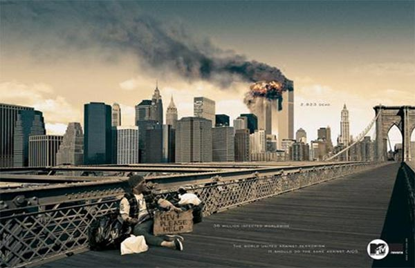 MTV WTC burning ad