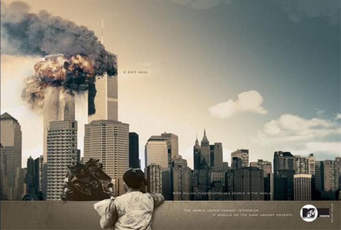MTV 911 twin tower ad Brazil
