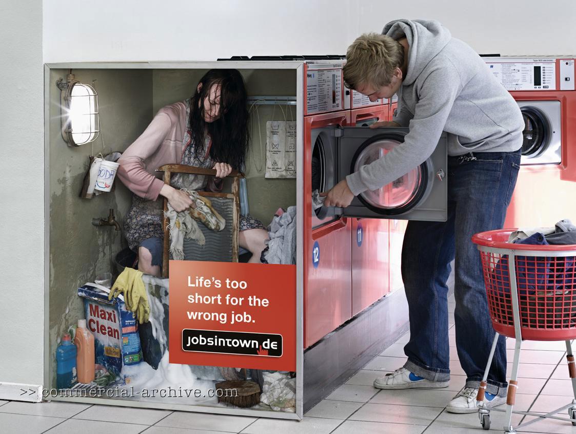 Jobsintown ad campaign on machines   Adland