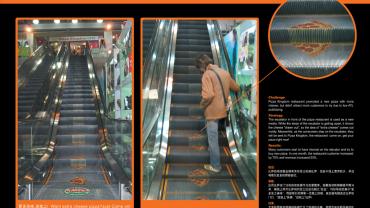 pizza kingdom escalator