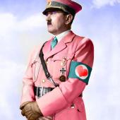 Hitler Dressed in Pink