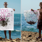 poster that doubles as a fishing net