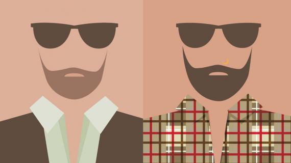A hipster / Un Bobo