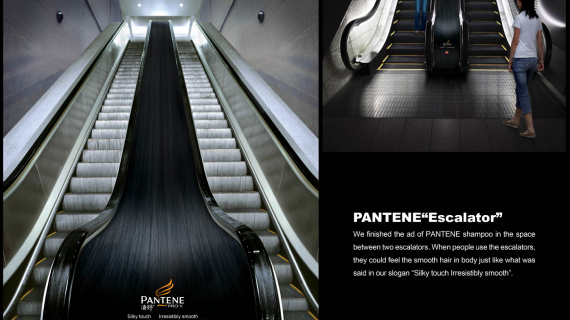 Pantene escalator