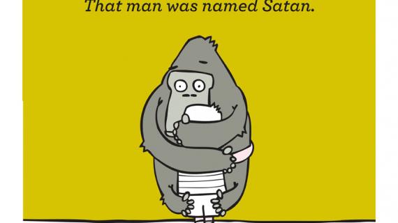 "gorilla poster ""satan"""
