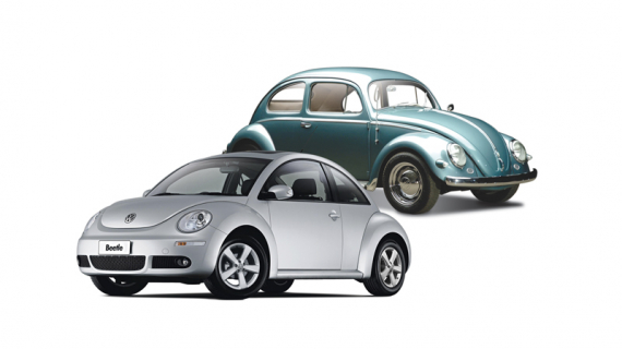 Happy Father's Day from Recreio, Volkswagen dealer, shows shows the old beetle a