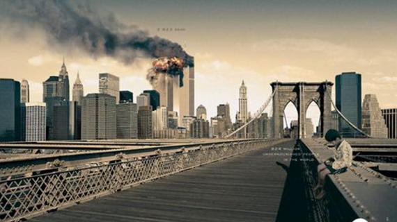 MTV burning twin tower ad