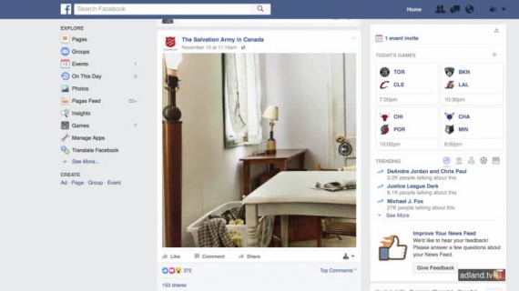 Facebook salvation army