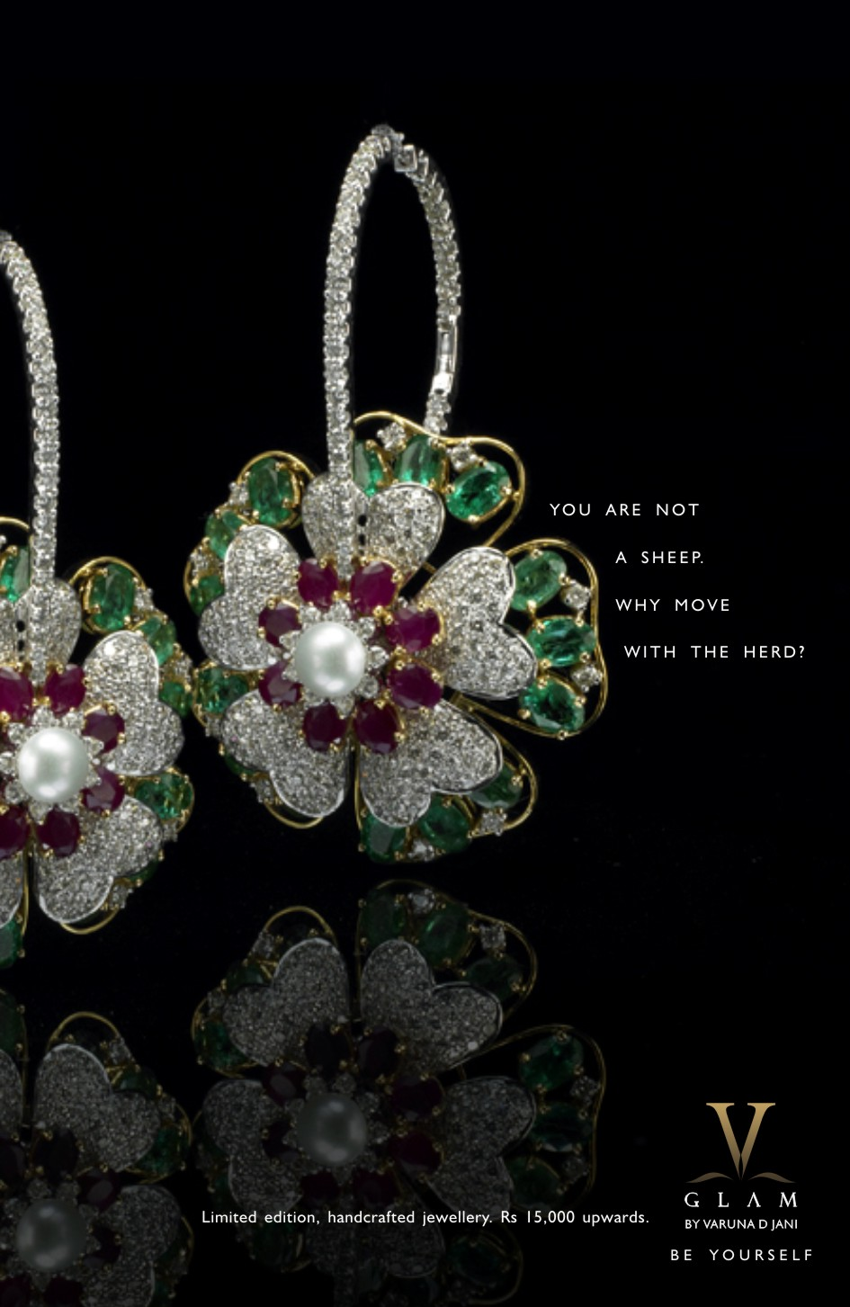 V Glam Fine Jewellery: Express Your Individuality ( Print/Poster, India)